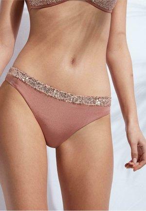 CANNES - Bikini bottoms - paillettes shine nude