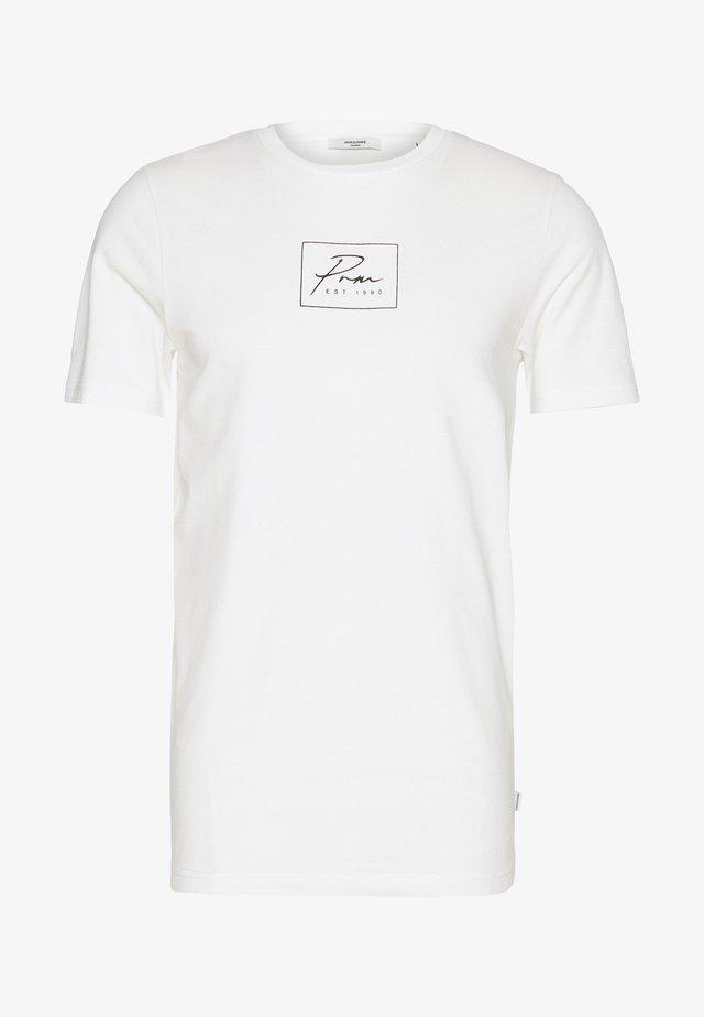 JPRBLA CORREL TEE  - T-shirt print - blanc de blanc