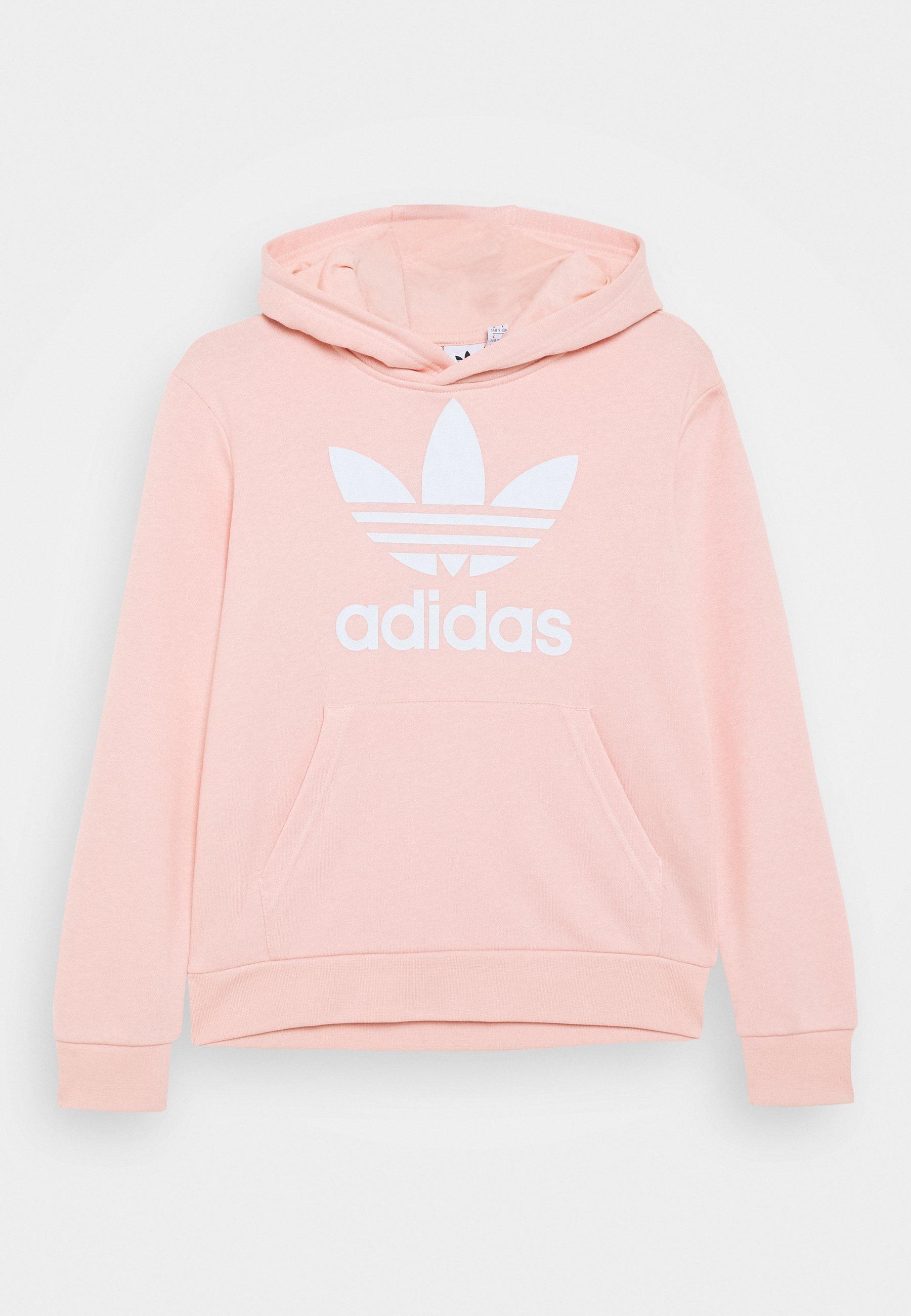 Facturable Cuota Relativo  adidas Originals TREFOIL HOODIE UNISEX - Hoodie - haze coral/white/light  pink - Zalando.co.uk
