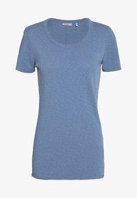 Marc O'Polo DENIM - SHORT SLEEVE CREWNECK SLIM FIT - Basic T-shirt - blue fantasy - 4