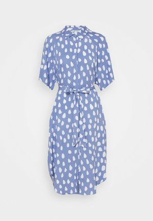 MIMMI DRESS - Shirt dress - blue/white