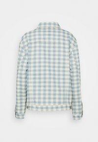 Kickers Classics - GINGHAM JACKET - Denim jacket - cream/blue - 1