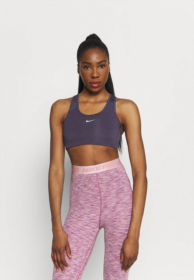 BRA - Medium support sports bra - dark raisin/white