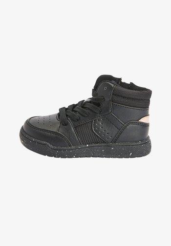 High-top trainers - metallic black