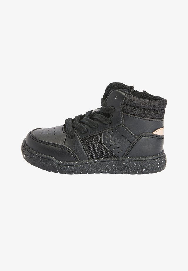Sneakers hoog - metallic black