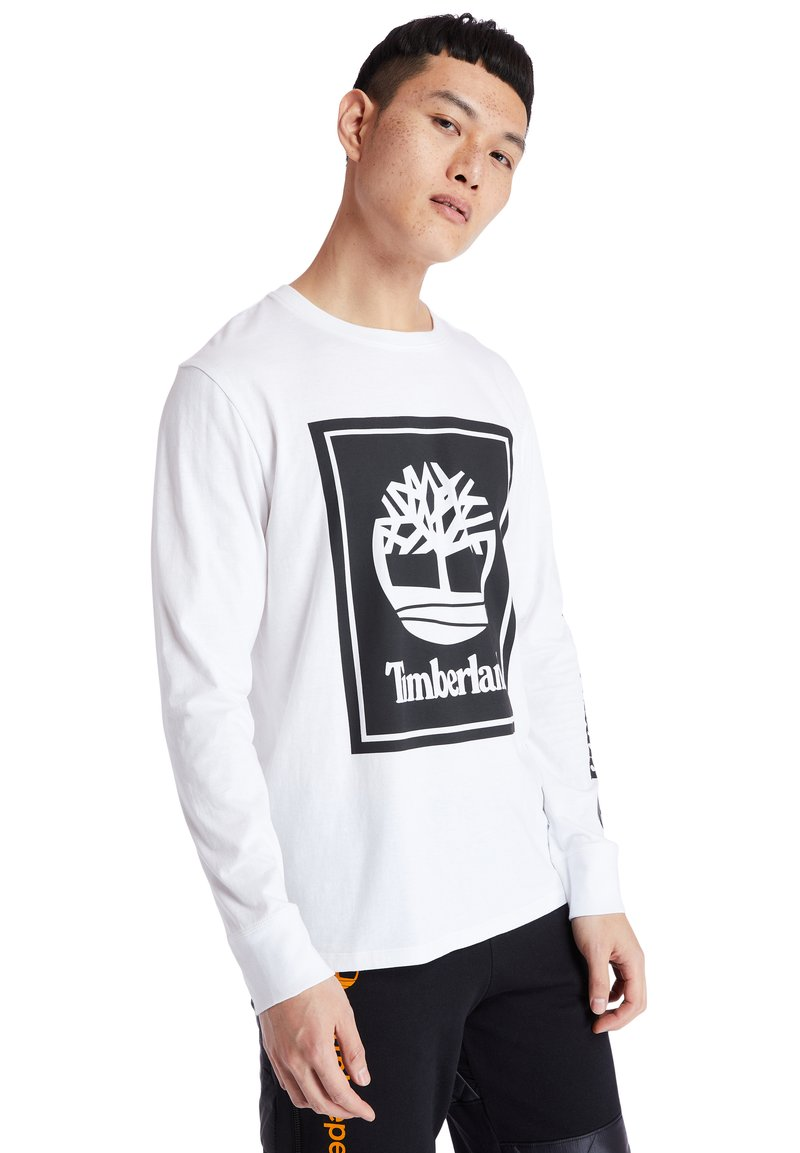 Timberland - Long sleeved top - white/black