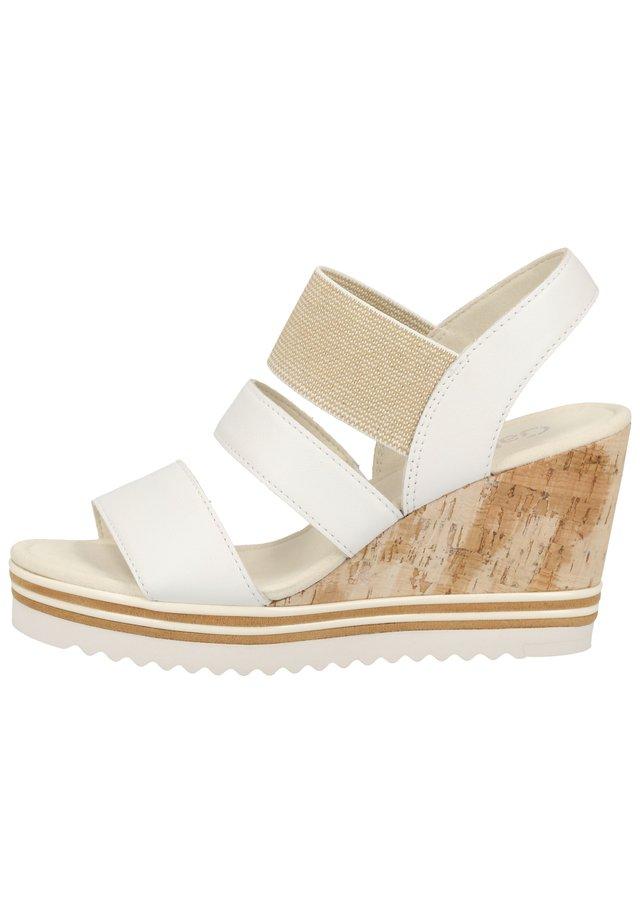 SANDALEN - Sandály na vysokém podpatku - white