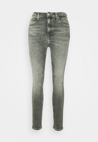 Calvin Klein Jeans - HIGH RISE SKINNY ANKLE - Jeansy Skinny Fit - grey embro - 3