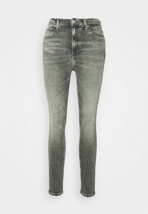 HIGH RISE SKINNY ANKLE - Skinny džíny - grey embro