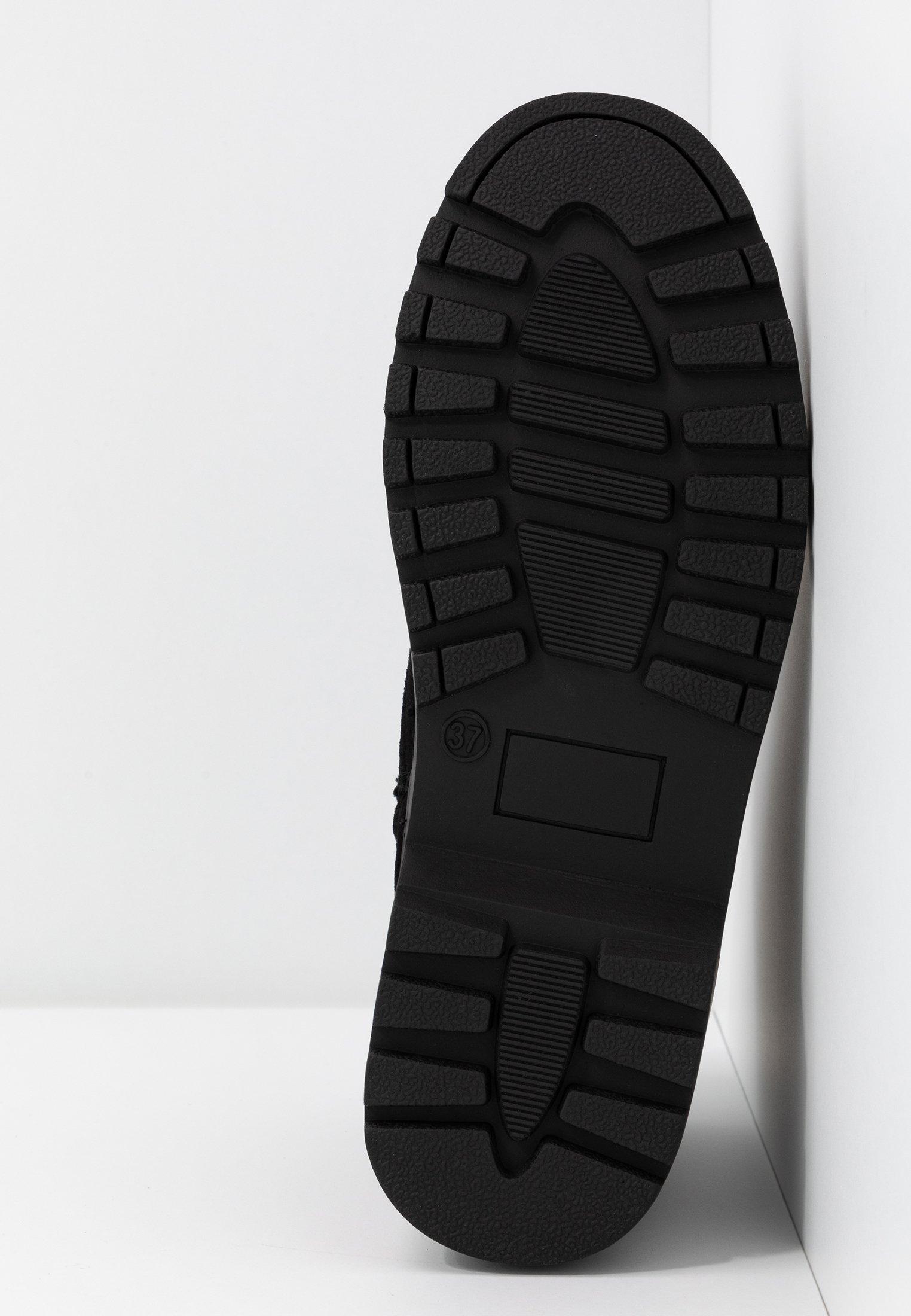 Topshop BUMBLE LACE UP BOOT Schnürstiefelette black/schwarz