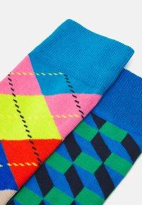 Happy Socks - FILLED OPTIC SOCK ARGYLE SOCK UNISEX 2 PACK - Socks - multi-coloured - 1