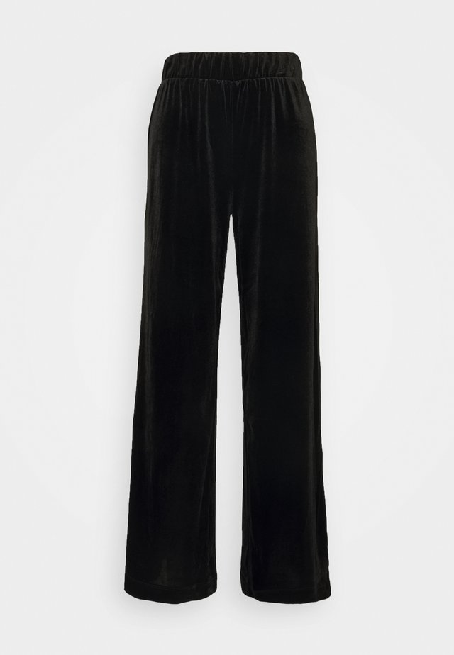CLEO PARTY TROUSERS - Trousers - black dark
