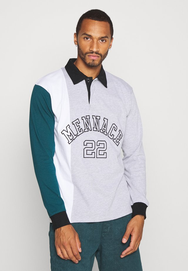 VERTICAL PANEL COLLEGE RUGBY - Polo - light grey