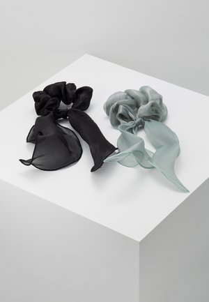 PCJISA BOW SCRUNCHIE 2 PACK  - Hair Styling Accessory - black/feldspar