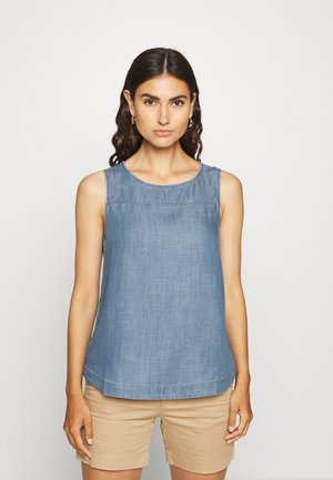 SLEEVELESS - Blouse - blue medium wash