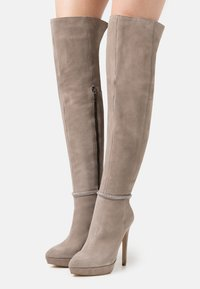 Even&Odd - LEATHER - High heeled boots - grey - 0