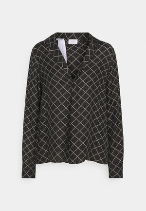 PRINTED  BLEND LAPEL - Bluser - black