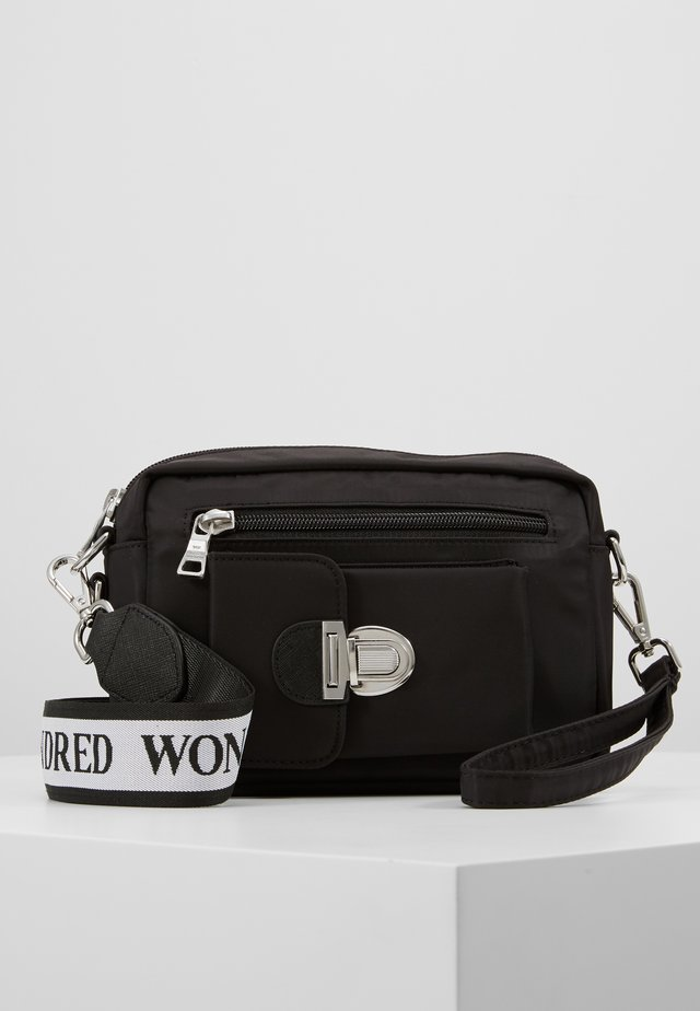 ATHEN - Bum bag - black /white