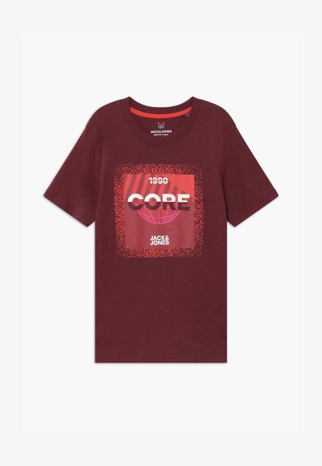 JCOSPLATTER TEE CREW NECK - Print T-shirt - port royale