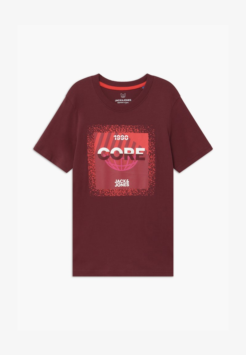 Jack & Jones Junior - JCOSPLATTER TEE CREW NECK - Print T-shirt - port royale