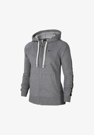 DRY GET FIT TAPING - Zip-up hoodie - carbon heather/smoke grey/black
