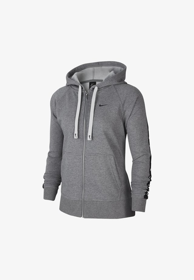 DRY GET FIT TAPING - Zip-up hoodie - carbon heather/smoke grey/black
