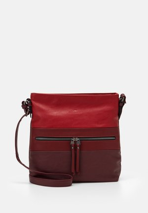 ELLEN - Across body bag - mixed red