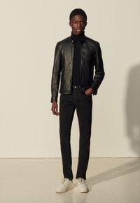 sandro - ANTHONY - Leather jacket - noir - 0