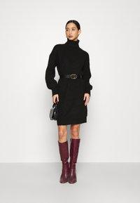 Even&Odd - Strikket kjole - black - 1