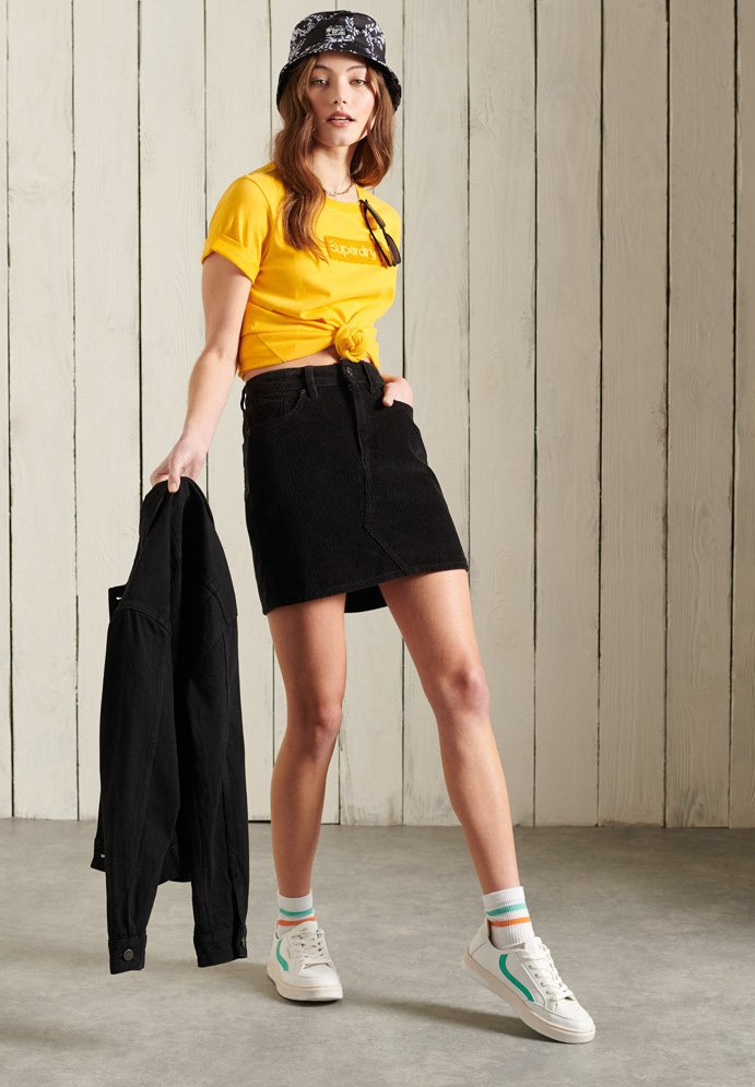 Superdry - CORE LOGO - Print T-shirt - springs yellow