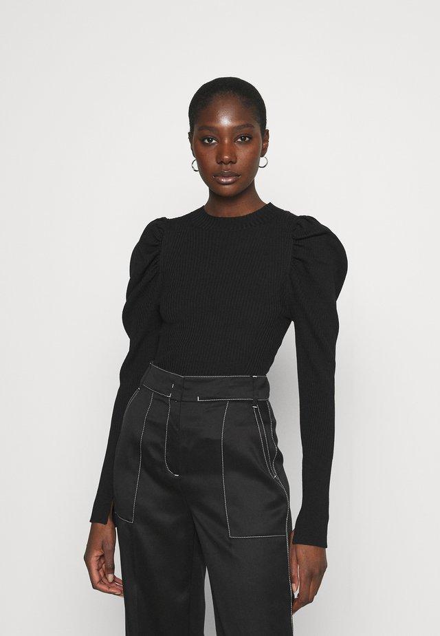 CANIL T NECK - Stickad tröja - black