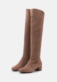 L'Autre Chose - BOOT ZIP - Stivali sopra il ginocchio - nude - 2
