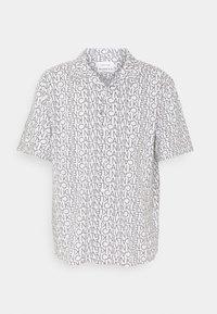 Calvin Klein - CUBAN COLLAR LOGO PRINT SHIRT - Shirt - white - 0