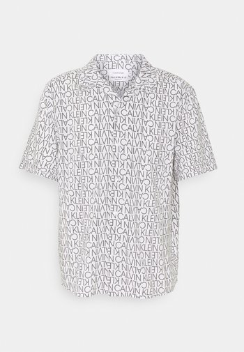 CUBAN COLLAR LOGO PRINT SHIRT - Shirt - white