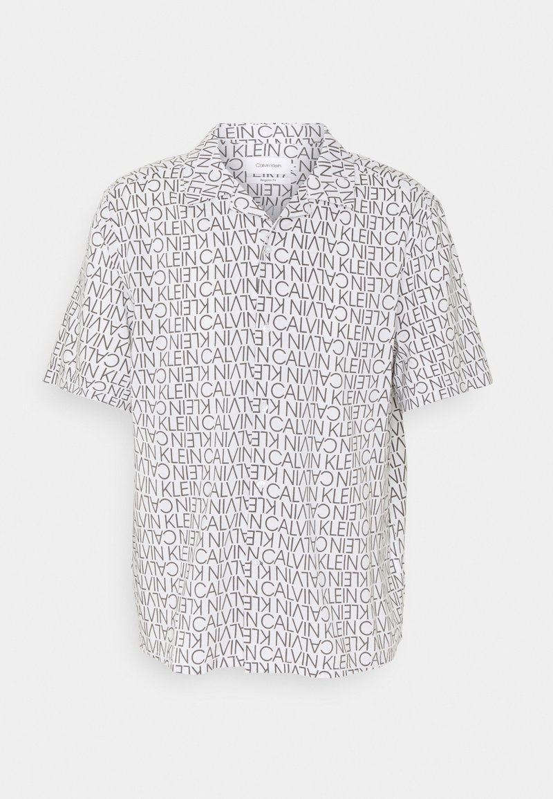 Calvin Klein - CUBAN COLLAR LOGO PRINT SHIRT - Shirt - white