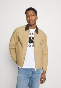 Carhartt WIP - DETROIT JACKET DEARBORN - Summer jacket - dusty brown rinsed - 0