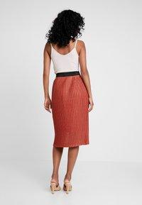 YAS - YASALURA SKIRT - A-line skirt - rooibos tea - 2