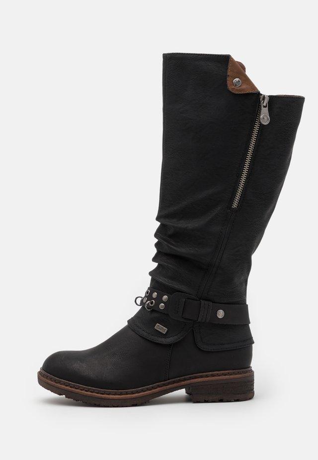 Cowboystøvler - schwarz/kastanie