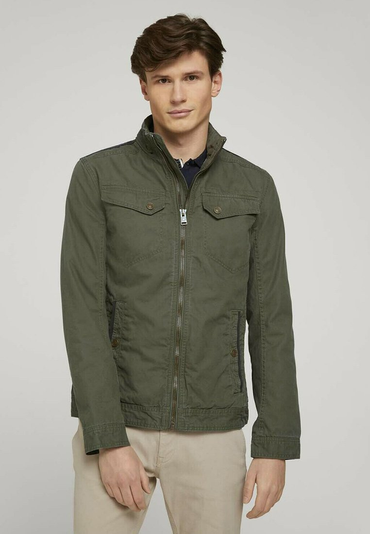 TOM TAILOR - BIKER - Light jacket - olive night green
