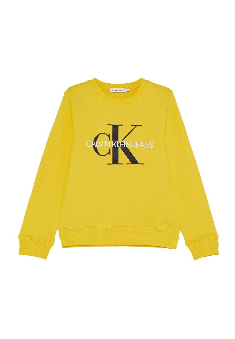 Calvin Klein Jeans - MONOGRAM LOGO UNISEX - Collegepaita - yellow