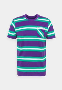 STAPLE PIGEON - STRIPED POCKET TEE UNISEX - Print T-shirt - teal - 4