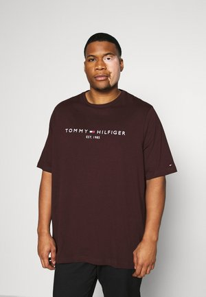 TOMMY LOGO TEE - T-shirt print - red
