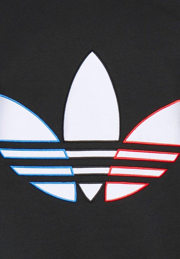 adidas Originals TRICOL TEE UNISEX - T-shirt z nadrukiem - black/czarny Odzież Męska CEFO