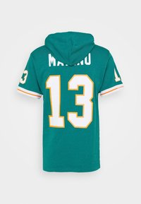 Mitchell & Ness - MIAMI DOLPHINS DAN MARINO HOODED SHORT SLEEVE - Article de supporter - teal - 1