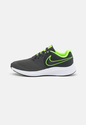 STAR RUNNER 2 UNISEX - Neutral running shoes - anthracite/electric green/white