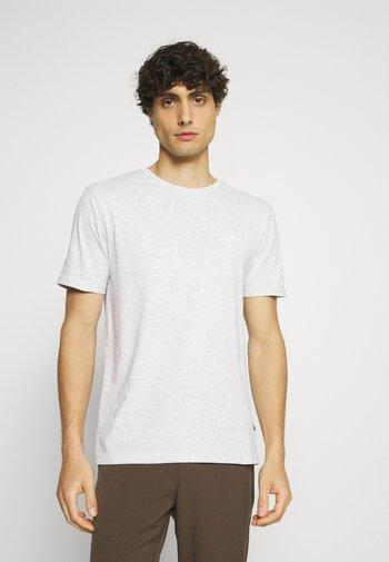 5 PACK - T-shirt - bas - light grey - 101_white - 001_green - 602