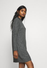Zign Petite - Gebreide jurk - dark grey melange - 3