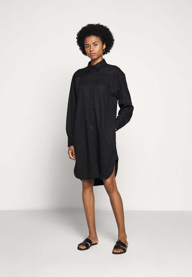 VIV DRESS - Shirt dress - black