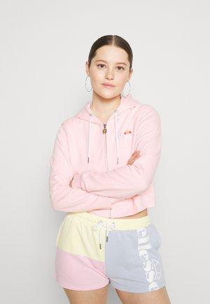 PIOLLI - Mikina na zip - light pink