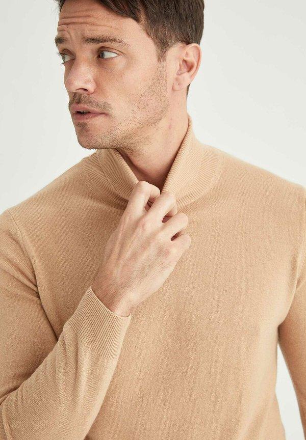 DeFacto ITALIAN COLLECTION - Sweter - brown/wielbłądzi Odzież Męska RCLA
